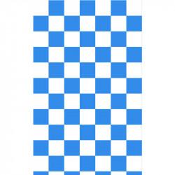 Grand damier - Bleu Roi &...
