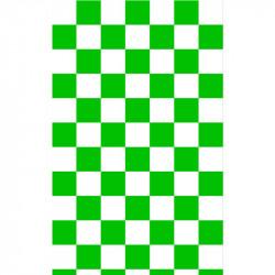 Grand damier -  Vert & Blanc