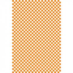 Damier - Orange & Blanc