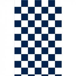 Grand damier - Bleu marine...