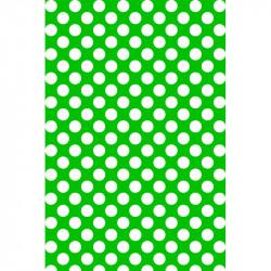 Pois blancs sur fond vert