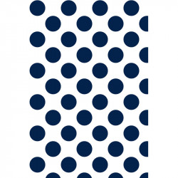 Grands pois - Bleu marine