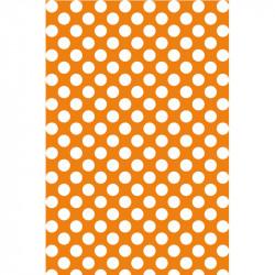 Pois blancs sur fond orange