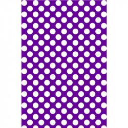Pois blancs sur fond violet