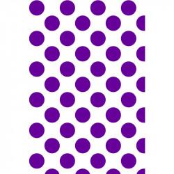 Grands pois - Violet