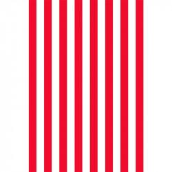 Rayures longitudinales - Rouge