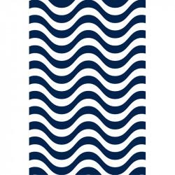 Rayures courbes - Bleu marine
