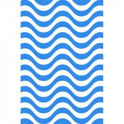 Rayures courbes - Bleu roi
