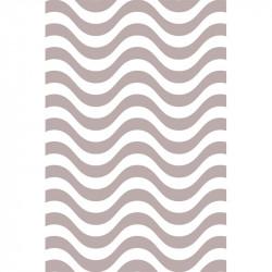 Rayures courbes - Gris clair