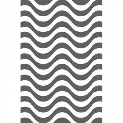 Rayures courbes - Gris