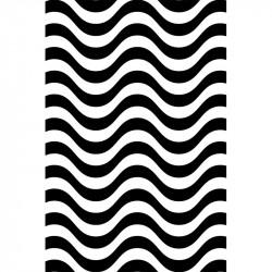 Rayures courbes - Noir