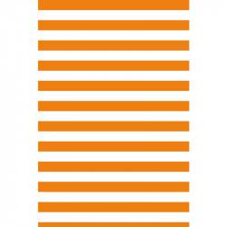 Rayures horizontales - Orange