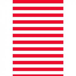 Rayures horizontales - Rouge